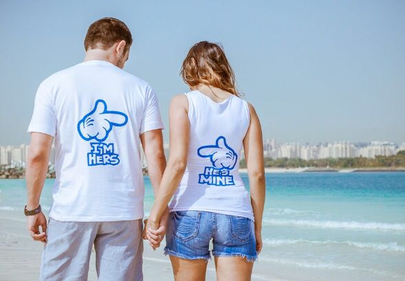 He's Mine tshirts - George&Joanne pre wedding Photo-shoot