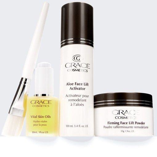 Non-surgical face lift kit.  Natural skin care regime cosmeceutical