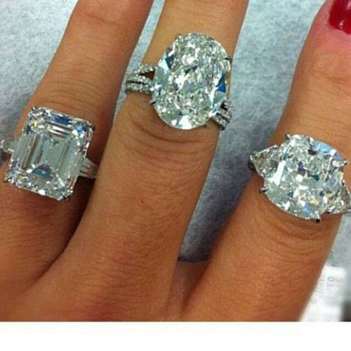 Gorgeous diamond rings