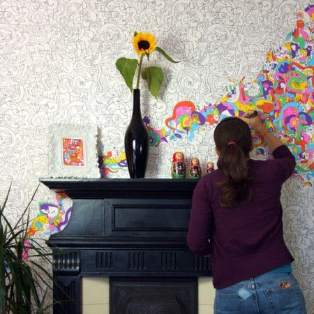 Colour-In Wallpaper - New Autumn Finds - Home Accessories
