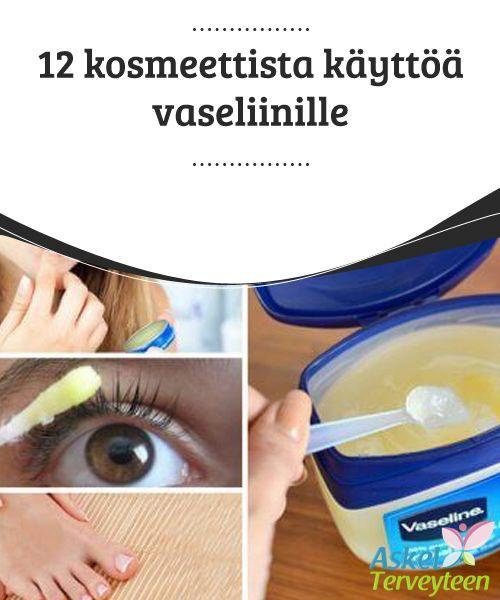 12 kosmeettista käyttöä vaseliinille  Vaseliinia voi käyttää monella eri tavalla. Tiesitkö esimerkiksi, että vaseliini soveltuu hiusongelmien hoitoon? Se siloittaa ja parantaa kaksihaaraiset, ravitsee hiuksia ja poistaa hilseen.