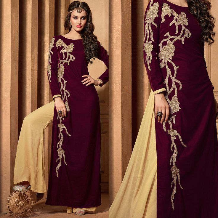 Salwar Kameez: Styled as designer with cream dupatta. perfect for party wear.