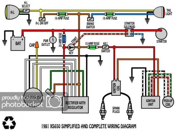 Pin By Ted Rothenburger On Yamaha Xs650 Electrical Wiring Diagram Diagram
