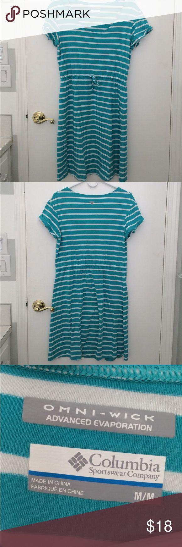 Columbia Sportswear Omni Wick Dress Size M Columbia Sportswear Omni Wick Dress Size M.  Teal and white stripes with a drawstring waist. From a smoke free/ pet free home. Columbia Dresses
