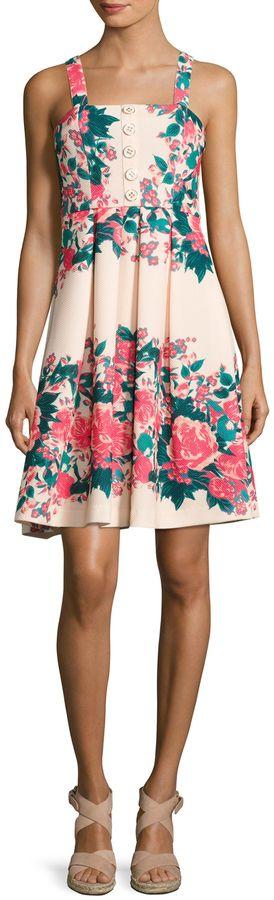 Plenty by Tracy Reese Dresses Women's Kelsi Floral Print Flared Dress