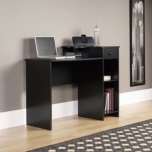 Mainstays Student Computer Desk - Walmart.com///For my little work station (if room) #blackComputerDesk