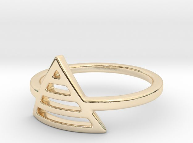 Teepee Stripe Ring by Dyani + Jade