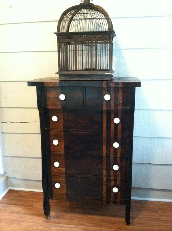 Black Striped Dresser Chest Vintage Idea For Robertu0027s · Painting  FurnitureFurniture ...