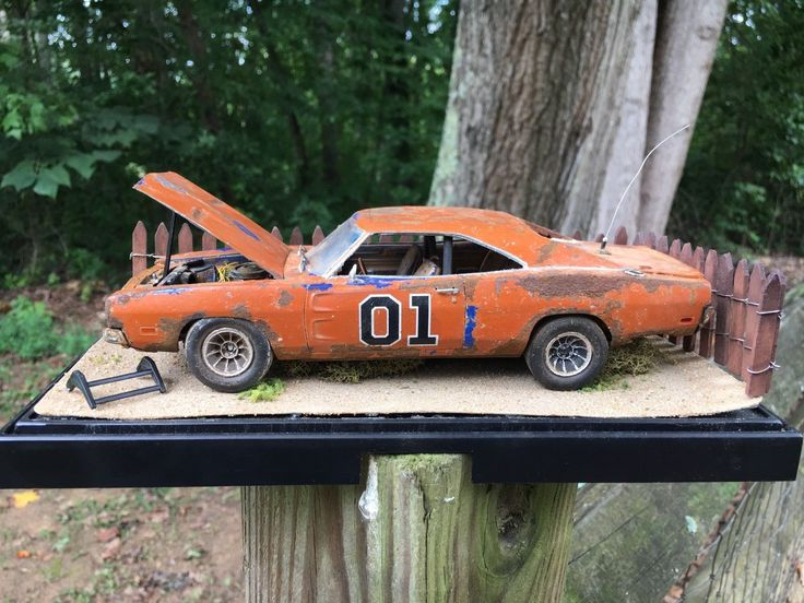 Dukes Of Hazard General Lee Model Built Diorama 1:24 Scale 1969 Dodge Charger | eBay