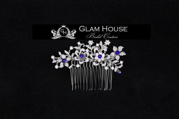 Bridal Hair Combflower headpiecehair combflower hair by GlamHouse