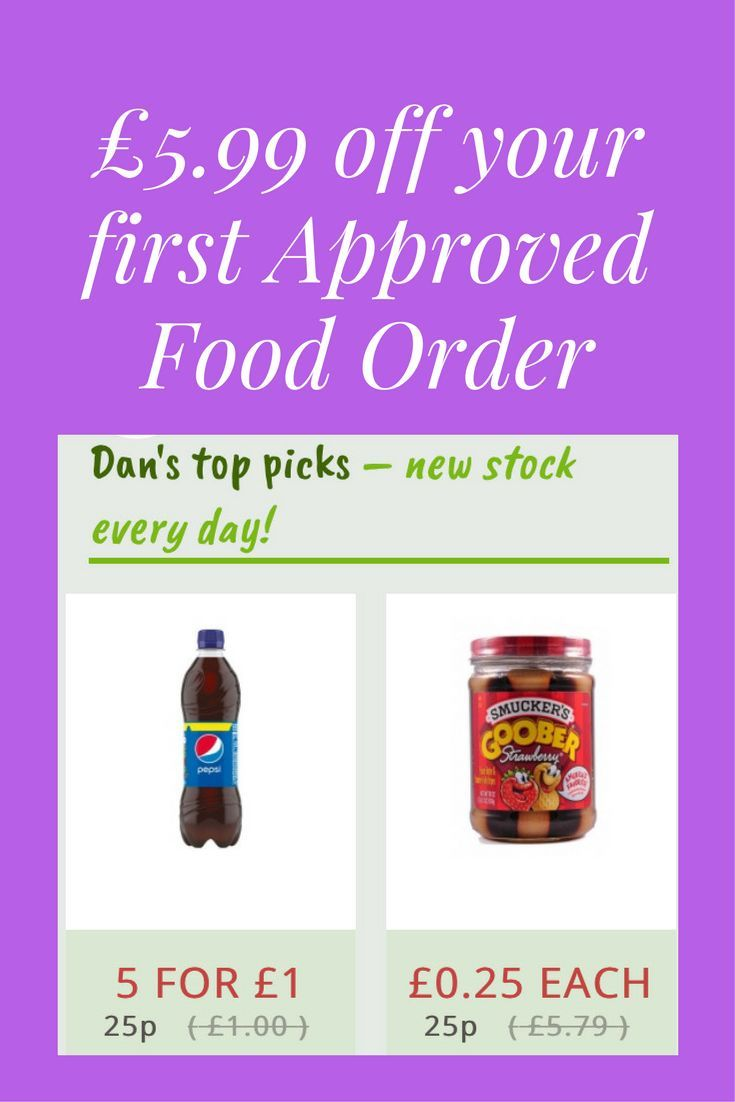Approved Food offers great savings on short dated foods.  Get 5.99 off your first order.  #affiliate #approvedfood #saving #shopping  (scheduled via http://www.tailwindapp.com?utm_source=pinterest&utm_medium=twpin)