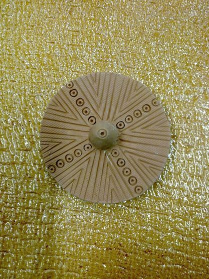 Ceramic golden plate!