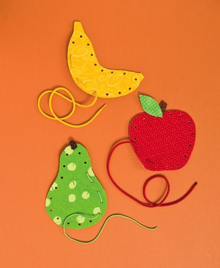 DIY fabric lacing cards for kids.