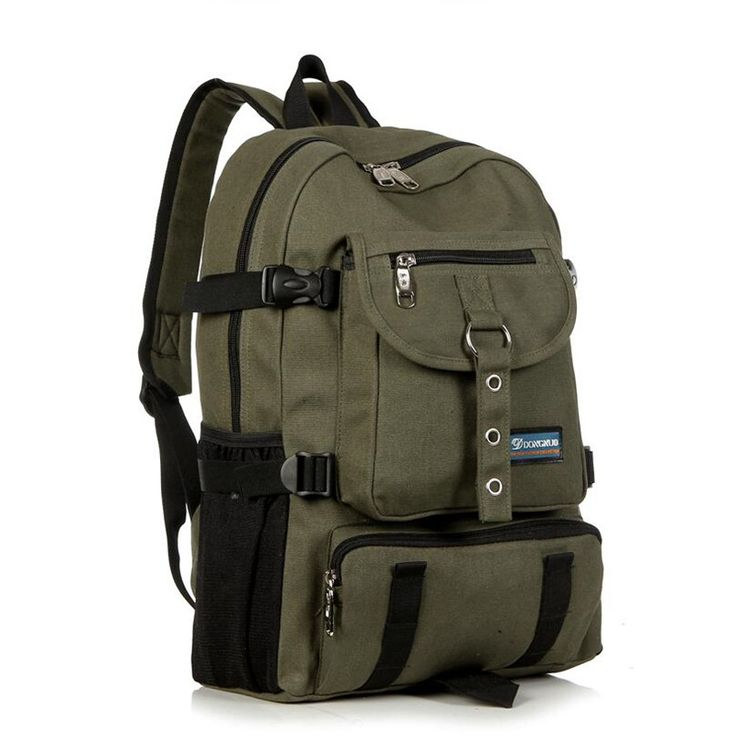 New Fashion Shoulder Strap Zipper Solid Casual Bag Male Backpack School Bag Canvas Backpack Designer Backpacks for Men