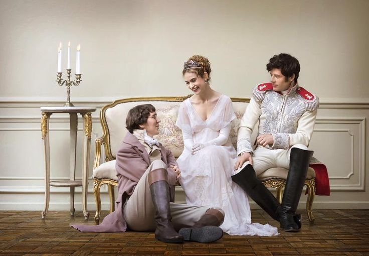 Paul Dano, Lily James and James Norton in War and Peace (BBC 2016)
