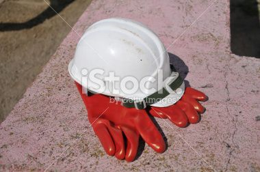 helmet and gloves Royalty Free Stock Photo