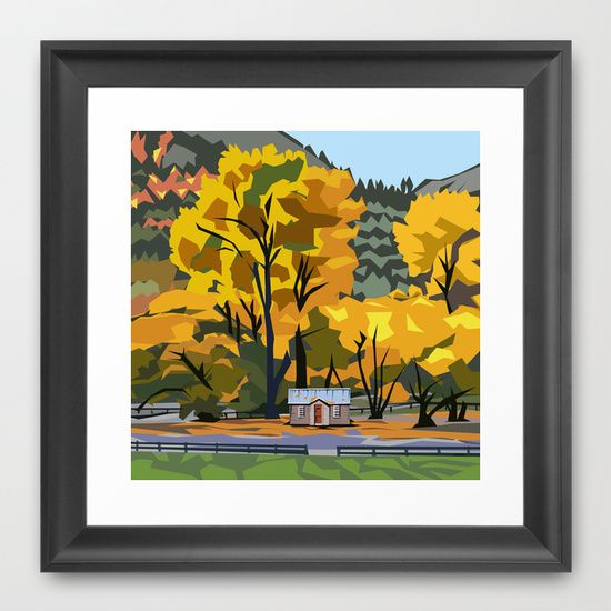 Golden Arrowtown Framed Art Print $35 http://society6.com/product/golden-arrowtown_framed-print#12=52&13=55