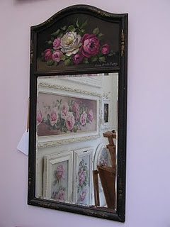 vintage trumeau mirror: another beautiful piece by Christie Repasy