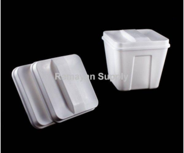 Shop Ice Bucket Lids Square - White Ramayan Supply Hotel Supplies Ice Bucket Lid fits 3 QT White 2.0 lbs Online At Ramayan Supply.