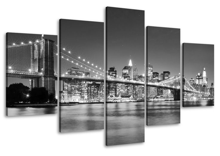 Pictures on canvas length 40 height 20 Nr 6402 New York ready to hang, picture brand original Visario!: Amazon.co.uk: Kitchen & Home