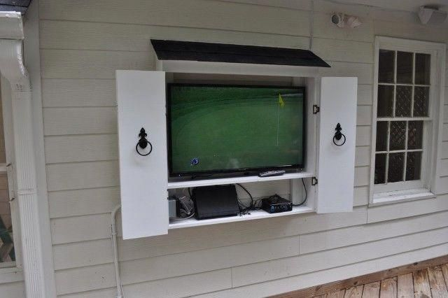 Image Result For Outdoor Tv Wall Mount Cabinet Outdoor Tv Cabinet Diy Tv Wall Mount Wall Mounted Tv