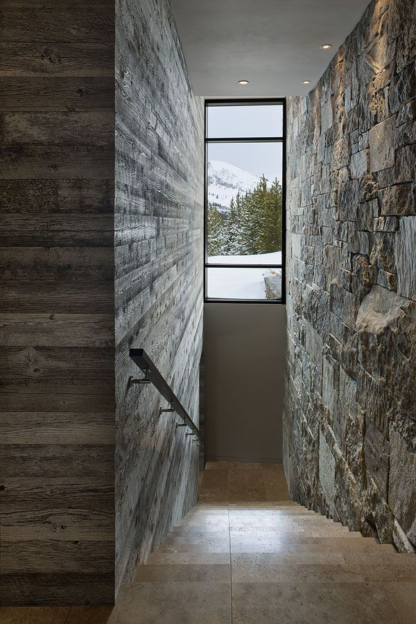 Contemporary luxury chalet in The Yellowstone Club, Montana, USA // Reid Smith Architects, LC2 Design Services and Teton Heritage Builders