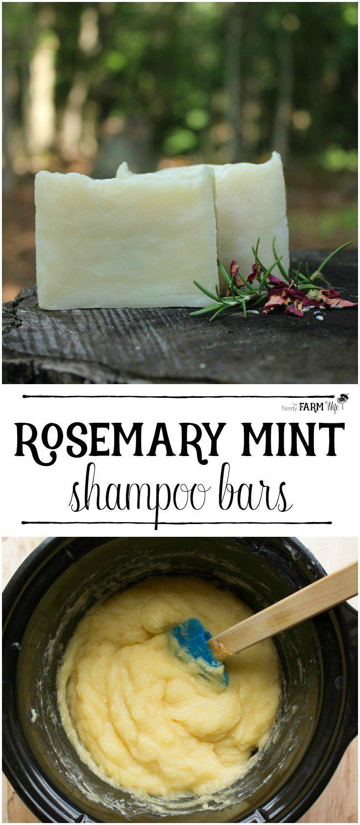 How to Make Rosemary Mint Shampoo Bars