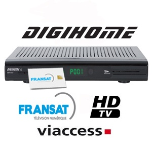 Digihome dsf 100hd terminal num rique hd avec carte for Pointage satellite atlantic bird 3