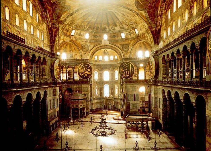 Hagia Sophia Mosque Interior.