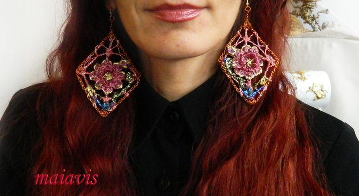 Earrings  beauty women fashion copper