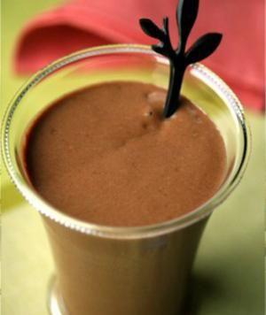 Chocolate Avocado Milkshake. I would substitute Stevia for brown sugar and Coconut Milk for regular milk.