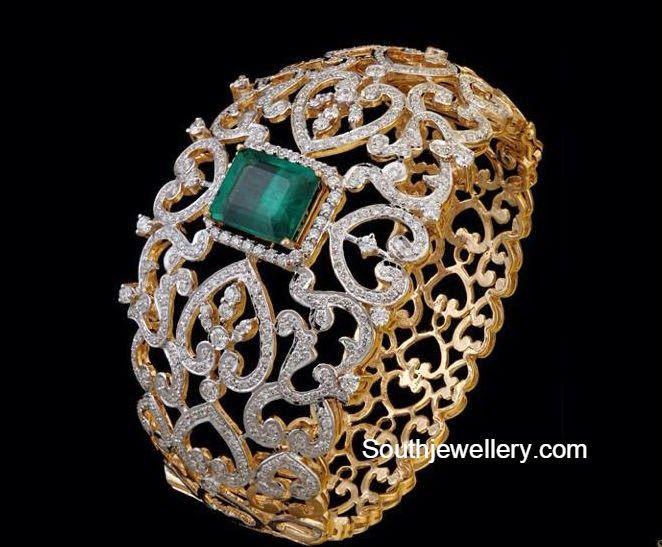 broad Indian diamond bangle