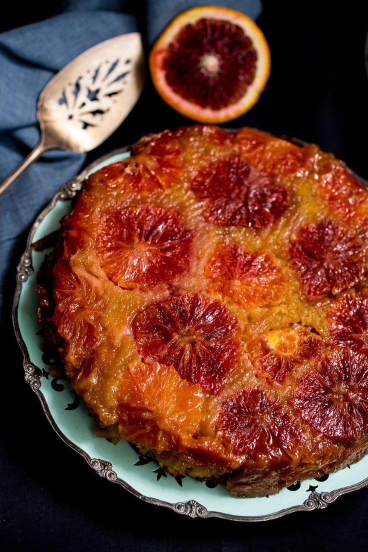 Blood Orange Almond Upside Down Cake | Recipe | Red