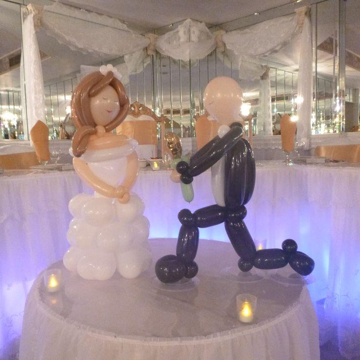 Bride & Groom by rosielloons