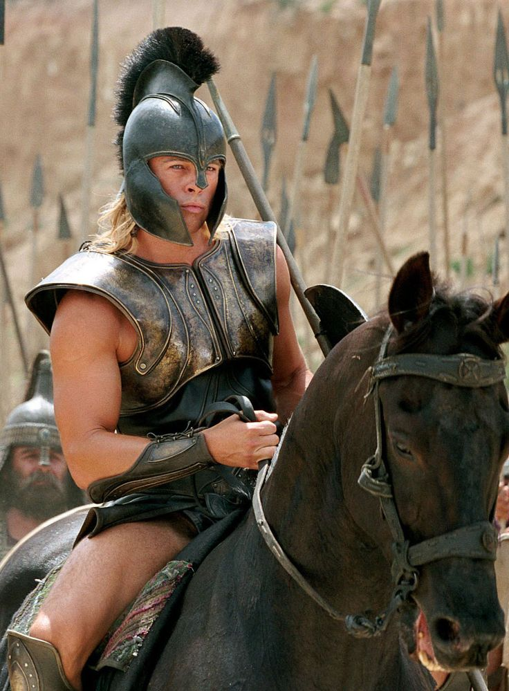 """Brad Pitt en """"Troya"""" (Troy), 2004"""