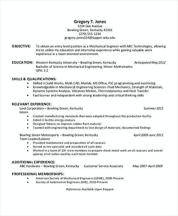 Engineering Internship Resume , Software Engineering Manager Resume