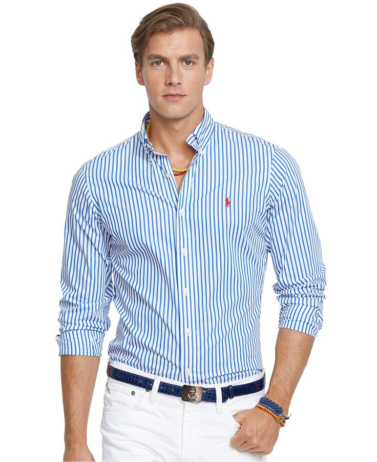 Polo Ralph Lauren Striped Poplin Shirt Casual Button