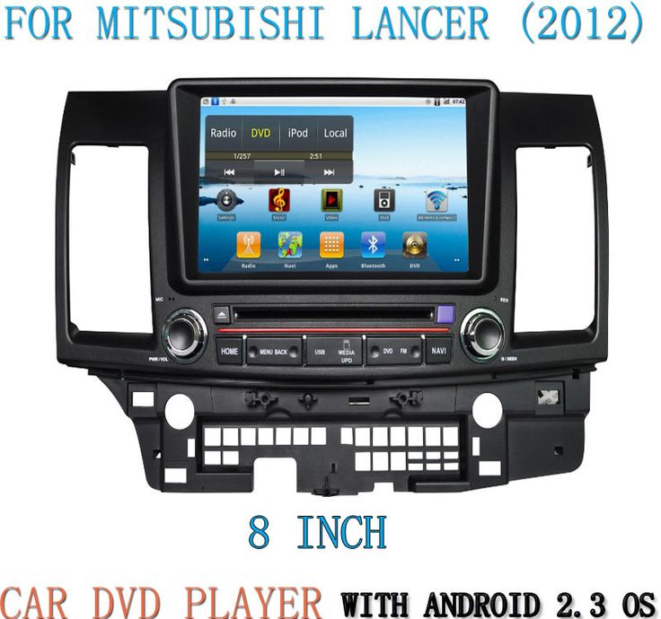 Find More Car DVD Information about 800*480 pixels Capacitive Touch Screen 8 inch Android 2.3 OS CAR DVD player car audio with GPS For MITSUBISHI LANCER (2012),High Quality Car DVD from home of charging treasure and accessories on Aliexpress.com