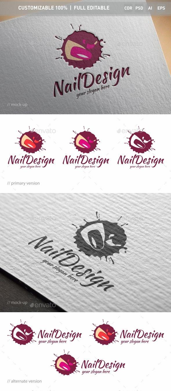 Nail Logo Template PSD, Vector EPS, AI Illustrator, CorelDRAW CDR #logotype Download here: http://graphicriver.net/item/nail-logo-template/16539680?ref=ksioks
