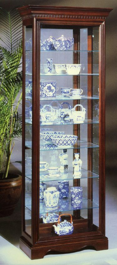 Octave III Eight Shelf Curio Cabinet