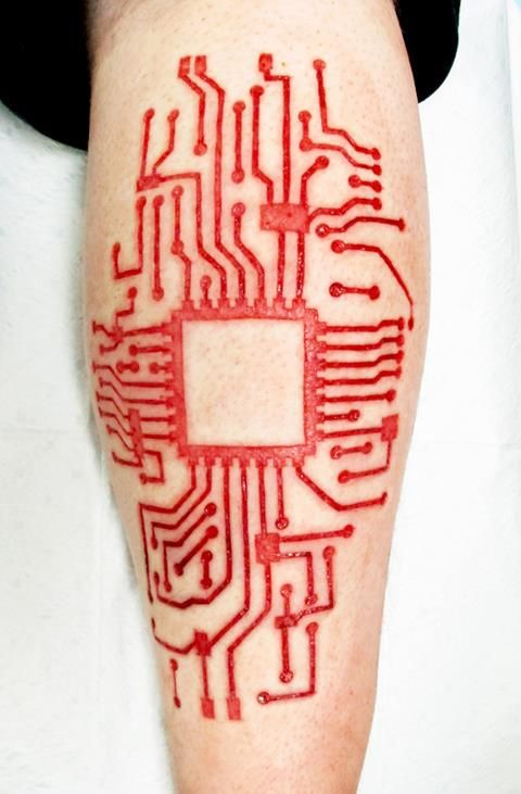 Fresh circuitry scarification done in Des Moines last week by Brian Decker of Pure Body Arts.