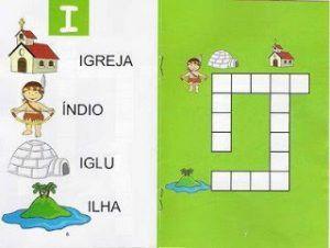 Cruzadinha das vogais para trabalhar alfabetização