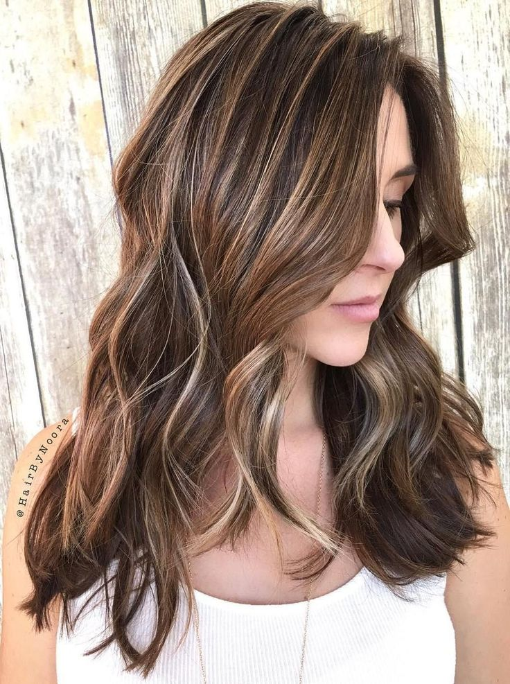 Long+Brunette+Hair+With+Blonde+Highlights