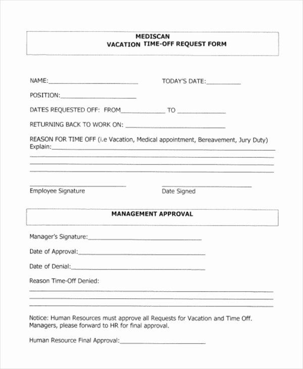 Vacation Request Form Template Elegant Sample Time F Request Form 12 Free Documents In Doc P Time Off Request Form Order Form Template Funeral Program Template