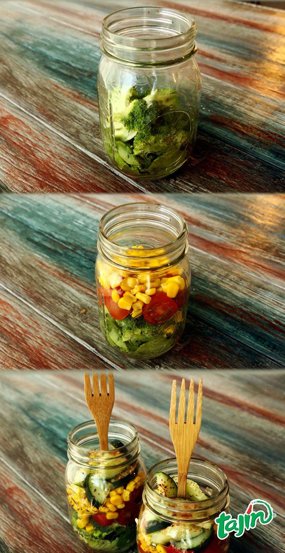 Mason jars and salads are much more fun with Tajín. #TajinHacks  www.tajin.com