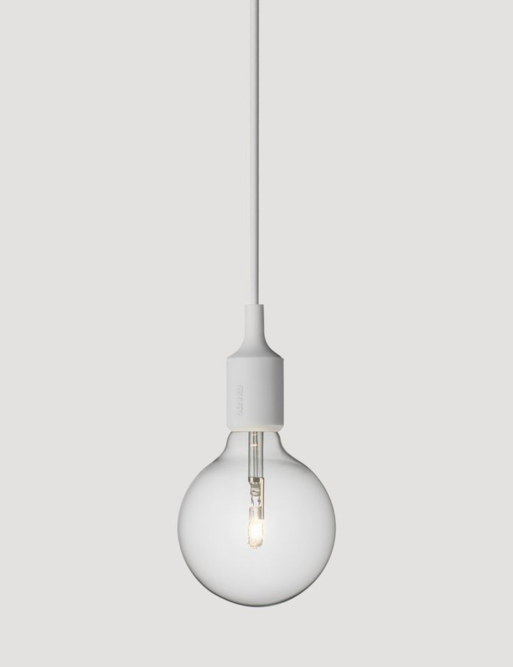 E27 has become a Muuto icon: A striking naked bulb that plays with the subtle aesthetics and simplicity of industrial design. Designed by Mattias Ståhlbom Comes in 13 different colors here in Light Grey #muuto #muutodesign