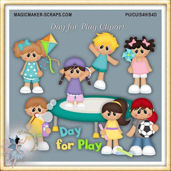 Day for Play Clipart by MagicmakerScraps on Etsy