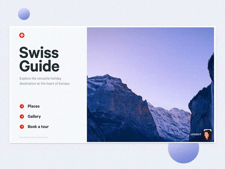 <p>A few transitions for the travel guide with the subtle parallax effect. Have a productive week!</p>