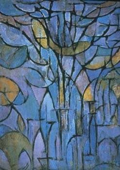 MONDRIAAN Piet (Dutch) - De grijze boom, 1911 BEGINNING OF ABSTRACT ART starting from a tree