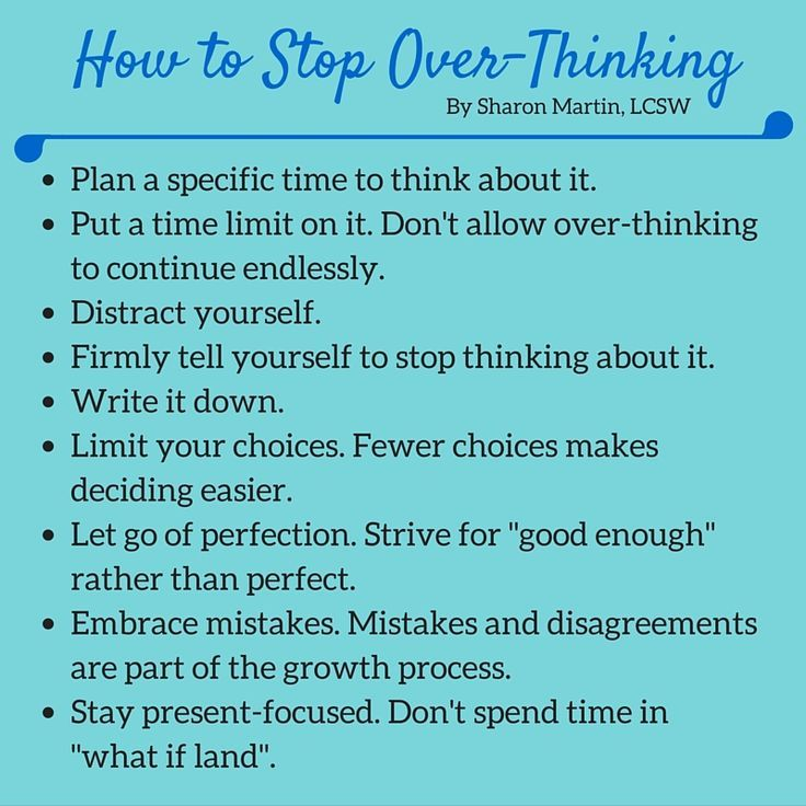 How To Stop Being An Overthinker